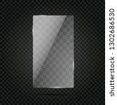 vector of rectangle glass frame. | Shutterstock .eps vector #1302686530