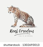 real freedom slogan with... | Shutterstock .eps vector #1302693013