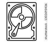 hard disk icon. outline hard... | Shutterstock .eps vector #1302693436