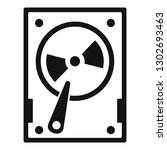 magnetic hard disk icon. simple ... | Shutterstock .eps vector #1302693463