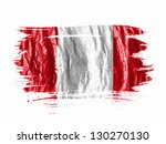 the peru flag painted with... | Shutterstock . vector #130270130