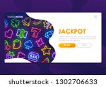 online slots website. winning... | Shutterstock .eps vector #1302706633
