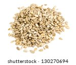 Fresh Sunflower Seeds Isolated...