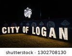 Small photo of Logan City, Queensland / Australia - December 15 2018: City of Logan Sign at the City of Logan Christmas Carols
