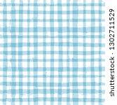 blue gingham seamless pattern.... | Shutterstock .eps vector #1302711529