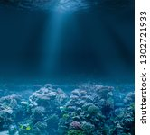 sea or ocean seabed with coral... | Shutterstock . vector #1302721933