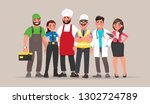 people of different professions.... | Shutterstock .eps vector #1302724789