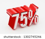 75   75 percent glossy red... | Shutterstock . vector #1302745246