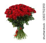 huge bouquet of beautiful red... | Shutterstock . vector #1302752353