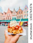 brugge waffles belgium  waffle...   Shutterstock . vector #1302765376
