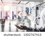 closeup of business woman in... | Shutterstock . vector #1302767413