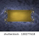 abstract blue texture with gold ... | Shutterstock . vector #130277618