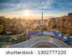 view of barcelone from the park ... | Shutterstock . vector #1302777220