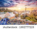 view of barcelone from the park ... | Shutterstock . vector #1302777223