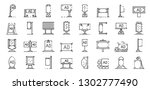 outdoor advertising icons set.... | Shutterstock .eps vector #1302777490