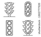 traffic lights icons set.... | Shutterstock .eps vector #1302777520