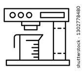 coffee milk machine icon.... | Shutterstock .eps vector #1302778480