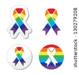 Rainbow Flag Ribbon   Symbol O...