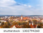 olsztyn panorama with a view to ... | Shutterstock . vector #1302794260