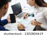 two programmer test coding... | Shutterstock . vector #1302804619