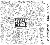 spring season nature...   Shutterstock .eps vector #1302807796