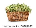 Black Bean Sprouts On White...