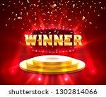 winner frame label  falling... | Shutterstock .eps vector #1302814066