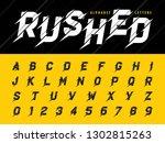 vector of glitch modern... | Shutterstock .eps vector #1302815263
