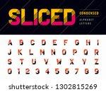 vector of glitch modern... | Shutterstock .eps vector #1302815269