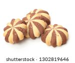 chocolate chip cookie cut out  | Shutterstock . vector #1302819646