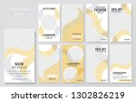 09 slides abstract unique... | Shutterstock .eps vector #1302826219