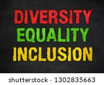diversity equality inclusion  ... | Shutterstock . vector #1302835663