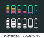 set of battery vector symbol... | Shutterstock .eps vector #1302840793