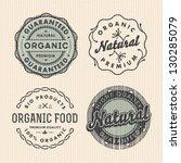 vector set vintage organic... | Shutterstock .eps vector #130285079