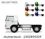 set of colorful light cng truck ...   Shutterstock .eps vector #1302854329