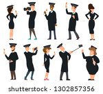 group of graduates students... | Shutterstock .eps vector #1302857356