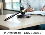 legal counsel presents to the... | Shutterstock . vector #1302860083
