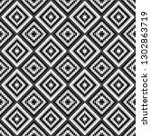 black and white geometrical... | Shutterstock . vector #1302863719