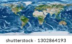 geography world map. modified... | Shutterstock . vector #1302864193