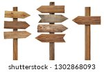 collection of various wooden... | Shutterstock . vector #1302868093