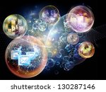 data bubble series. background... | Shutterstock . vector #130287146