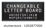 changeable letter board with... | Shutterstock .eps vector #1302877000