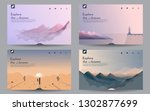 a set of landscapes. templates... | Shutterstock .eps vector #1302877699