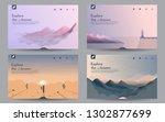 a set of landscapes. templates... | Shutterstock .eps vector #1302877699