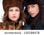 two beautiful young woman in... | Shutterstock . vector #130288478