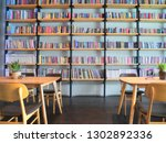 the coffee shop decorate in... | Shutterstock . vector #1302892336