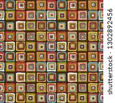 vintage colorful squares... | Shutterstock .eps vector #1302892456