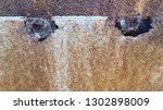 old rusty metal plate joint... | Shutterstock . vector #1302898009