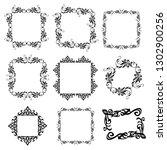 set of vector vintage frames... | Shutterstock .eps vector #1302900256