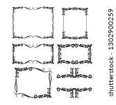 set of vector vintage frames... | Shutterstock .eps vector #1302900259